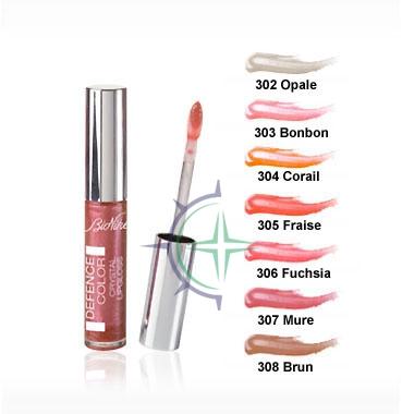 Bionike Linea Defence Color Crystal Lipgloss Lucidalabbra Colorato 308 Marrone