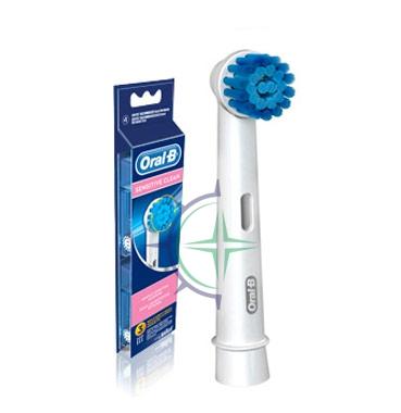 Oral-B Linea Igiene Dentale Quotidiana Sensitive Clean 3 Spazzolini di Ricambio