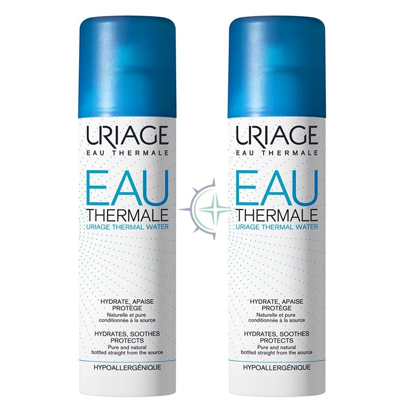Uriage Linea Rinfrescante Lenitiva Eau Thermale Acqua Pelli Delicate 2x300 ml