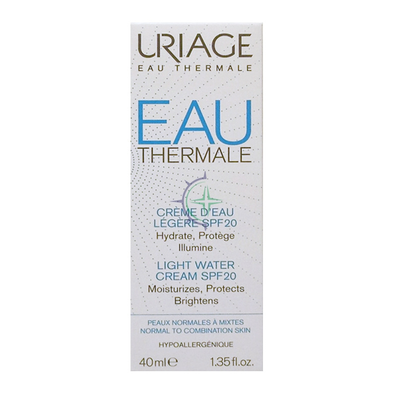 Uriage Linea Eau Thermale Crema Leggera all'Acqua SPF20 Nutriente 40 ml
