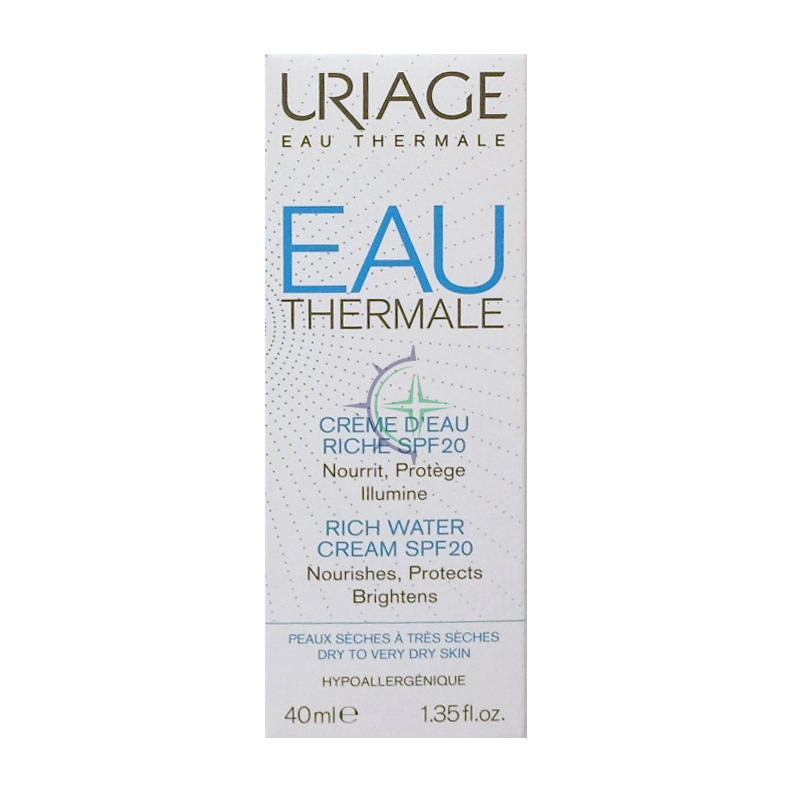 Uriage Linea Eau Thermale Crema Ricca all'Acqua SPF20 Nutriente Rigenerante 40ml