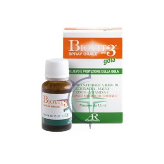 AR Fitofarma Linea Benessere Gola Biovit 3 Gola Integratore Alimentare 15 ml