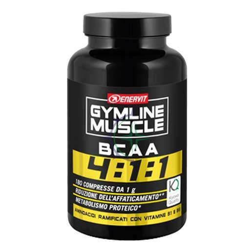 Enervit Sport Linea Gymline Muscle BCAA 4:1:1 Integratore 180 Compresse
